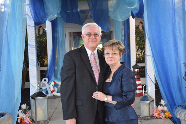 Tom Walls, president of Plaza Ford, and his wife, Sharon Walls, enjoy the festivities at the 15th annual After d'Arc Gala. (Photo by The Arc Northern Chesapeake Region)