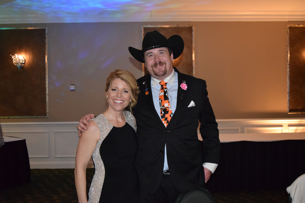•  Shawn Kros, left, the CEO of The Arc Northern Chesapeake Region, poses with Sean Parks at the 15th annual After d'Arc Gala. (Photo by The Arc Northern Chesapeake Region)