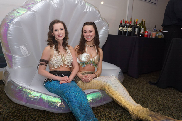 """Mermaids"" Martha Barnett, left, and Taylor Feiss of The Magic Continues helped bring the under-the-sea theme alive at the 15th annual After d'Arc Gala. (Photo by The Arc Northern Chesapeake Region)"