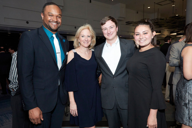 From left, Evan Taylor, a banking officer with M&T Bank; Sharon Flagler, SBLC board treasurer and group vice president at M&T Bank; Grant W. Flagler, an energy analyst with Con Edison Energy; and Kylie High, a student at Temple University, were on hand for the SBLC gala. (Photo by Tracey Brown)