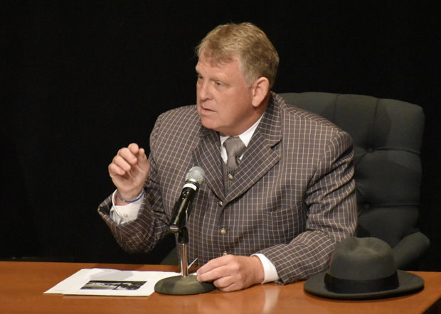 Former Howard County Executive Allan H. Kittleman filled the role of defense witness Frank T. Farrell. (Photo courtesy of the Maryland State Bar Association)