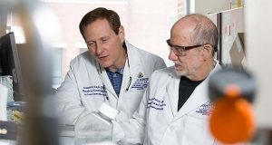 Kenneth Kinzler, left, and Dr. Bert Vogelstein are researchers at Johns Hopkins and co-founders of Thrive. (Submitted photo)
