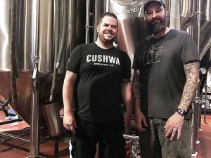 Brewery Fire co-owners Dave Palmer, left, and Jesse Johnson plan to open their brewery in Taneytown in August. (Submitted Photo)