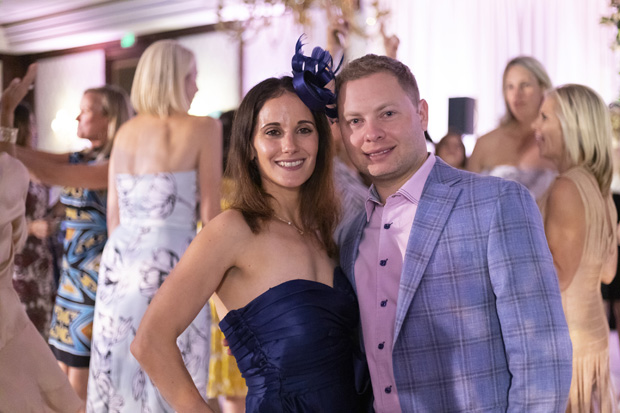 Matt Levinson, vice president of Sol Levinson & Bros. Inc., and his wife, Katelyn, supported the Kennedy Krieger Institute by attending the fourth annual Hats & Horses event. (Photo by Jason Putsché Photography LLC)