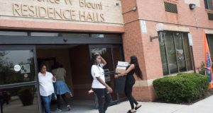 Students move into the residence halls at Morgan State University. (Submitted photo)