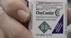 In court papers filed in New York on Sunday, Sept. 15, 2019, Purdue Pharma, the manufacturer of OxyContin, filed for Chapter 11 bankruptcy protection. (AP Photo/Jeff Chiu, File)