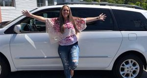 Amanda Kahn, 29, of Pasadena, Md., received a 2004 Toyota Sienna from Vehicles for Change. (Vehicles for Change photo)