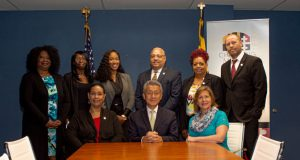 Governor's Office of Small, Minority & Women Business Affairs Team, pictured above, from left, back row, Nichelle Johnson, Tanita Johnson, Chantal Kai-Lewis, Gerald Stinnett, Pam Gregory, Eduardo Hayden. Front row, Lisa Mitchell Sennaar, Jimmy Rhee, Alison Tavik. (Submitted photo)
