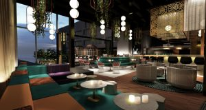 W Toronto will feature an indoor/outdoor lobby bar and lounge equipped with a DJ booth/recording studio.