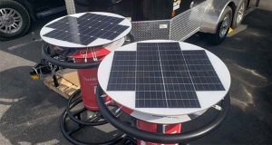 Power Up's new Solar Charging Table is aimed at festival and outdoor event organizers, as well as utility companies and emergency response teams that need to provide power after a storm or natural disaster. (Submitted photo)