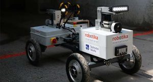 Kloubak, one of four robots entered in the DARPA Subterranean Challenge Tunnel Circuit. (Robotika International photo)