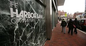 The Harbor Bank of Maryland increased deposits last year by 25%, officials say.  (The Daily Record/Rich Dennison)