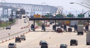 Cheaspeake Bay Bridge Toll on 4-14-03. ES