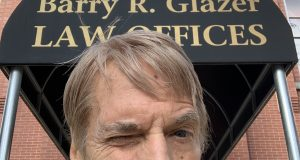 Baltimore attorney Barry Glazer outside his Fells Point office.