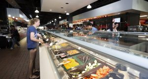 Dining halls at the University of Maryland, College Park, switched to an 'all-you-can-eat' policy, which was accompanied by limits on food that could be taken out. (Capital News Service/John Consoli)
