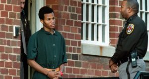 In November 2002, Lee Boyd Malvo, 17, leaves the Fairfax County Juvenile and Domestic Relations courthouse in Virginia. MUST CREDIT: Washington Post photo by Rich Lipski