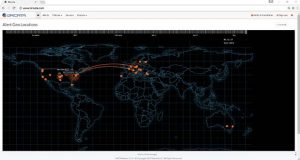This screenshot depicts alert capability by geography in the Bricata network security platform. (Bricata screenshot)