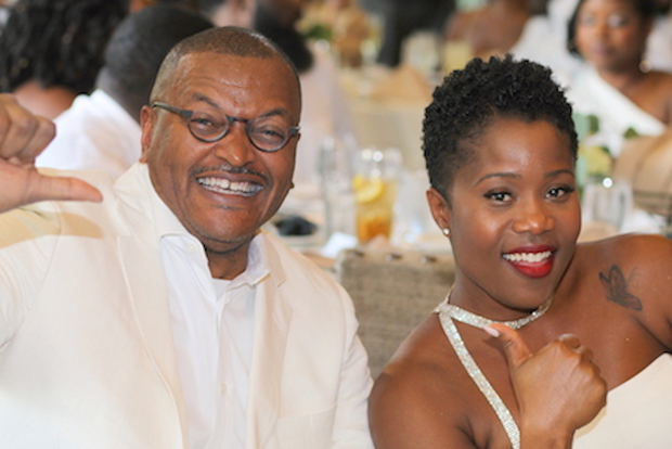 Aaron Copeland, left, founder and CEO of Alignstaffing, is all smiles with Natasha Meglar, the company's executive director, enjoy the celebration at the annual All-White Gala. (Photo courtesy of Alignstaffing)