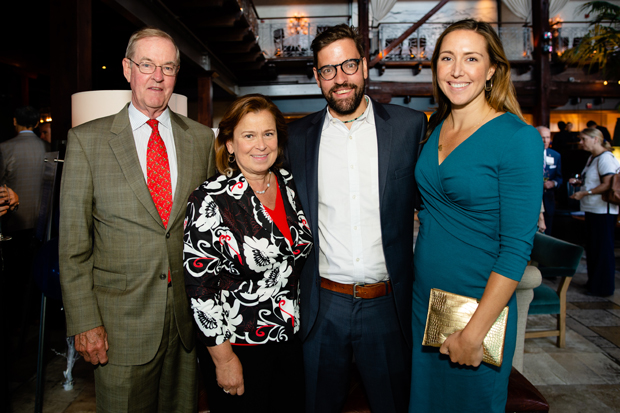 From left, Walter D. Pinkard Jr., a senior adviser with Cushman & Wakefield, and Mary-Ann Pinkard get a photo with Wally and Jillian Pinkard at the United Way of Central Maryland's annual Toqueville Society celebration. Walter and Mary-Ann were honored as Philanthropists of the Year at the event. (Photo courtesy of United Way in Central Maryland)