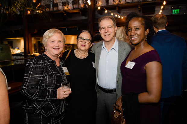 From left, Dr. Carole Miller, a section chief at the cancer institute at St. Agnes Hospital; Ilana Mittman, a consultant in the Office of Diversity and Inclusion with Johns Hopkins Medicine; Scott Mittman; and Dolores Njoku, pediatric anesthesiology program director and associate professor of anesthesiology and critical care medicine at with Johns Hopkins Medicine, enjoy the evening at Bar Vazquez. (Photo courtesy of United Way in Central Maryland)
