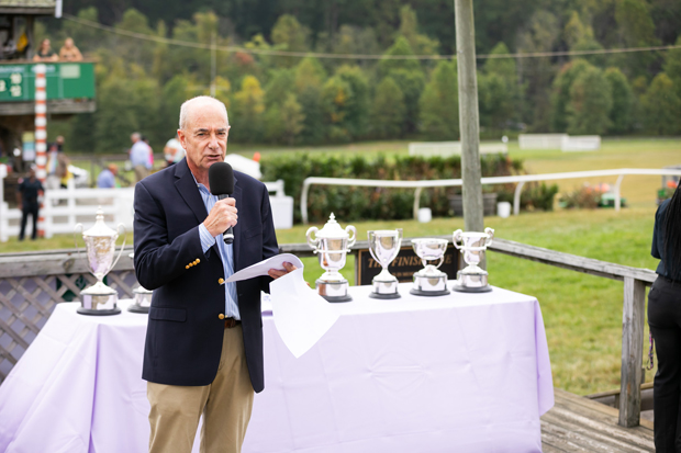 Dr. John Chessare, president and CEO of GBMC HelathCare, talks to attendees ahead of award ceremony during the 19th annual Legacy Chase. (Photo courtesy of GBMC)
