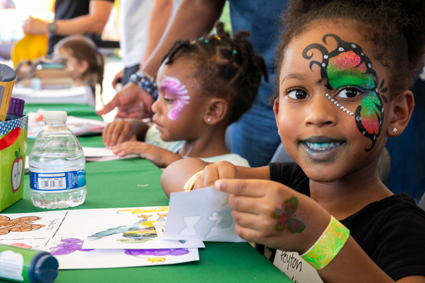 Younger attendees got to visit The Kids' Korner for face painting and more at the 19th annual Legacy Chase. (Photo courtesy of GBMC)
