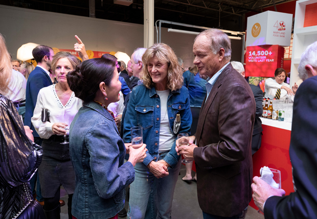 Maryland first lady Yumi Hogan chats with Jan and Jim Perdue, co-chairs of the 40th anniversary of the Maryland Food Bank's Blue Jeans Ball. (Photo courtesy of the Maryland Food Bank)