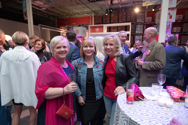From left, Carole Miller, a section chief with St. Agnes Hospital/Ascension Health Care; Tere Geckle, a member of the Maryland Food Bank Anniversary Committee; and Lynn Kerner, with BGE Corporate Relations, attended the 40th annual Maryland Food Bank's Blue Jeans Ball. (Photo courtesy of the Maryland Food Bank)