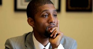 Baltimore City Council President Brandon Scott.  (AP Photo/Julio Cortez)