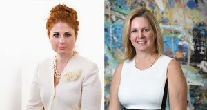 Composite photo of Chrissy Bolmarcich, left, and Nancy Greene.