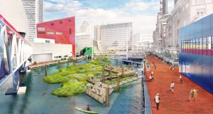 Renderings of aspects of National Aquarium's Waterfront Campus Plan | July 10, 2019
