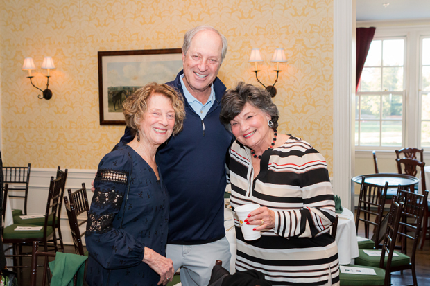 From left, Sylvia Horowitz, event co-chair John Baum and Beth Lebow gather for a photo. (Photo courtesy of SEED School)