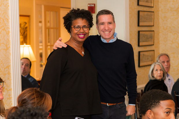 Lesley Poole, CEO of the SEED Foundation, and Tuck Burch, chairman of the board for SEED MD, enjoy the festivities at the event. (Photo courtesy of SEED School)
