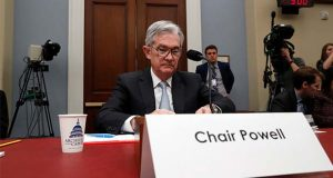 Federal Reserve Board Chair Jerome Powell takes his seat to testify to the House Budget Committee, Thursday, Nov. 14, 2019, on Capitol Hill in Washington. (AP Photo/Jacquelyn Martin)