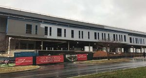 Construction at Cole Field House at the University of Maryland-College Park on Dec. 9, 2019. (Capital News Service photo by Teresa Johnson)