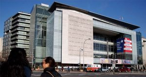 In this Friday, Dec. 20, 2019, photo, the Newseum is seen in Washington. The Newseum will close the Pennsylvania Avenue location on Dec. 31, 2019. It attracted millions of visitors but lacked a solid financial plan to stay afloat. The mission of the Newseum is to increase public understanding of the importance of a free press and the First Amendment. (AP Photo/Jacquelyn Martin)