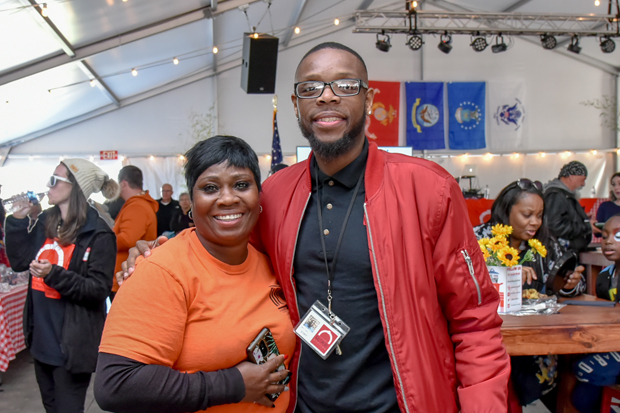 Rosalyn Jefferson and Larry Taylor, administrative coordinator at The Baltimore Station, pose for a photo. (Photo courtesy of The Baltimore Station)