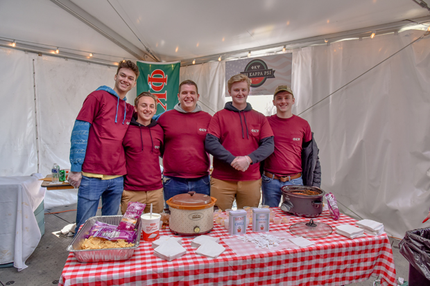 "Members from Towson University's Phi Kappa Psi fraternity participated in their first chili cookoff where they took home the ""People's Choice"" award. (Photo courtesy of The Baltimore Station)"