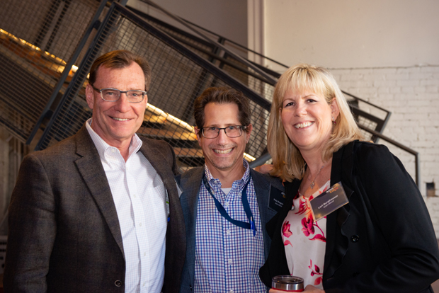 From left, SC&H Group CEO Ron Causey, Director Pete Ragone and Principal Lori Burghauser take time for a photo. (Photo courtesy of SC&H Group)