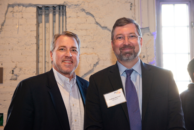 Greg Horning, left, director at SC&H Group, poses for a photo with Andrew Michael, group manager with M&T Bank. (Photo courtesy of SC&H Group)