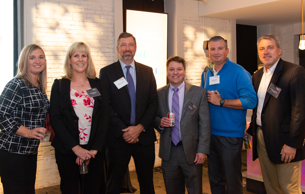 From left, Jennifer Amato, a director at SC&H Group; Lori Burghauser, a principal with SC&H Group; Andrew Michael, group manager at M&T Bank; Duke Allen, chief financial officer with SC&H Group; Jason Amato, director of finance and human resources with RDA Corporation; and Greg Horning, a director at SC&H Group, pose for a photo. (Photo courtesy of SC&H Group)