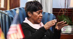 House Speaker Del. Adrienne Jones speaks during an interview Jan. 2 in her office in Annapolis. (The Daily Record / Jason Whong)