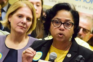 Del. Joseline A. Pena-Melnyk, D-Prince George's and Anne Arundel counties, speaks on Tuesday, Jan. 28, 2020. (The Daily Record / Bryan P. Sears)