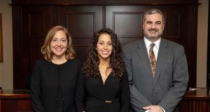 From left, Smith, Gildea and Schmidt's new equity partners Melissa English, Mariela D'Alessio and Jason Vettori pose for a photo.