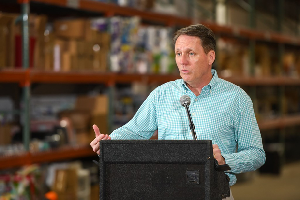 Matt Connelly, the CEO of Good360, talks to the crowd during the ceremony marking the opening of the new donation Resource Center for Volunteers of America Chesapeake & Carolinas. (Photo courtesy of VOA Chesapeake & Carolinas)