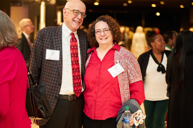 Paul Wolman, co-chair of Heart of the Schools, poses for a photo with Cynthia Smith, director of faculty design and construction with Baltimore City Public Schools. (Photo courtesy of Fund for Educational Excellence)
