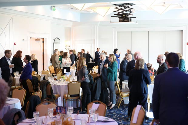 Guests mingle and network during the Harford County Chamber of Commerce's annual State of the County luncheon Jan. 16 at Water's Edge Events Center in Belcamp. (Photo by Sophia Joy Photography)