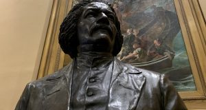 The statue of Frederick Douglass that now is in the Maryland State House. (The Daily Record/Bryan P. Sears)