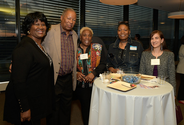 Pro Bono Resource Center volunteers, including notaries and attorneys, enjoy the reception. (Photo by Coos Hamburger/Focophoto)