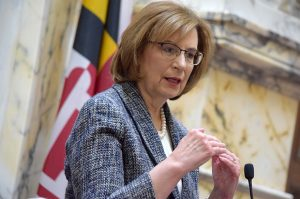 Chief Judge Mary Ellen Barbera acknowledged the attorneys concerns last week in an online video message thanking them for their 'patience and forebearance during these difficult weeks and months.' (The Daily Record/File Photo)